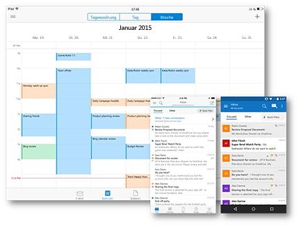 Mit Outlook auf allen Ihren bevorzugten Geräten