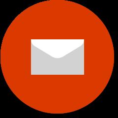"""Symbol """"Persönlicher Gebrauch"""" mit Umschlag für E-Mail"""