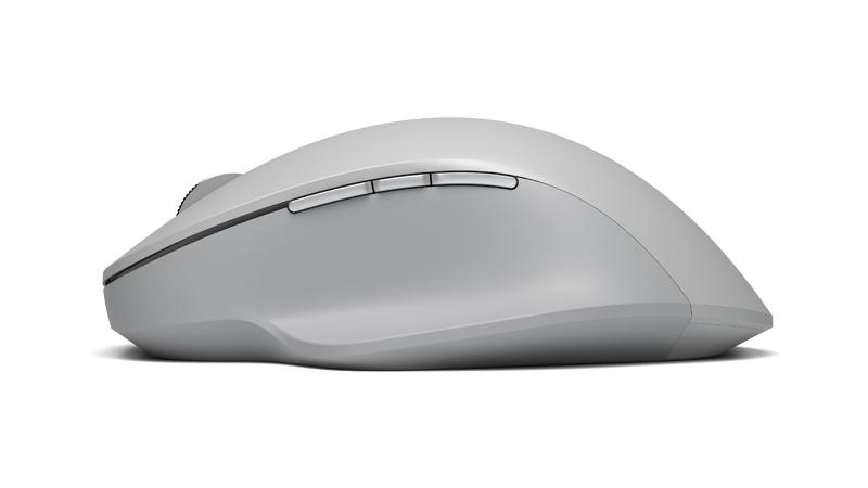 Ansicht der Surface Precision Mouse von links