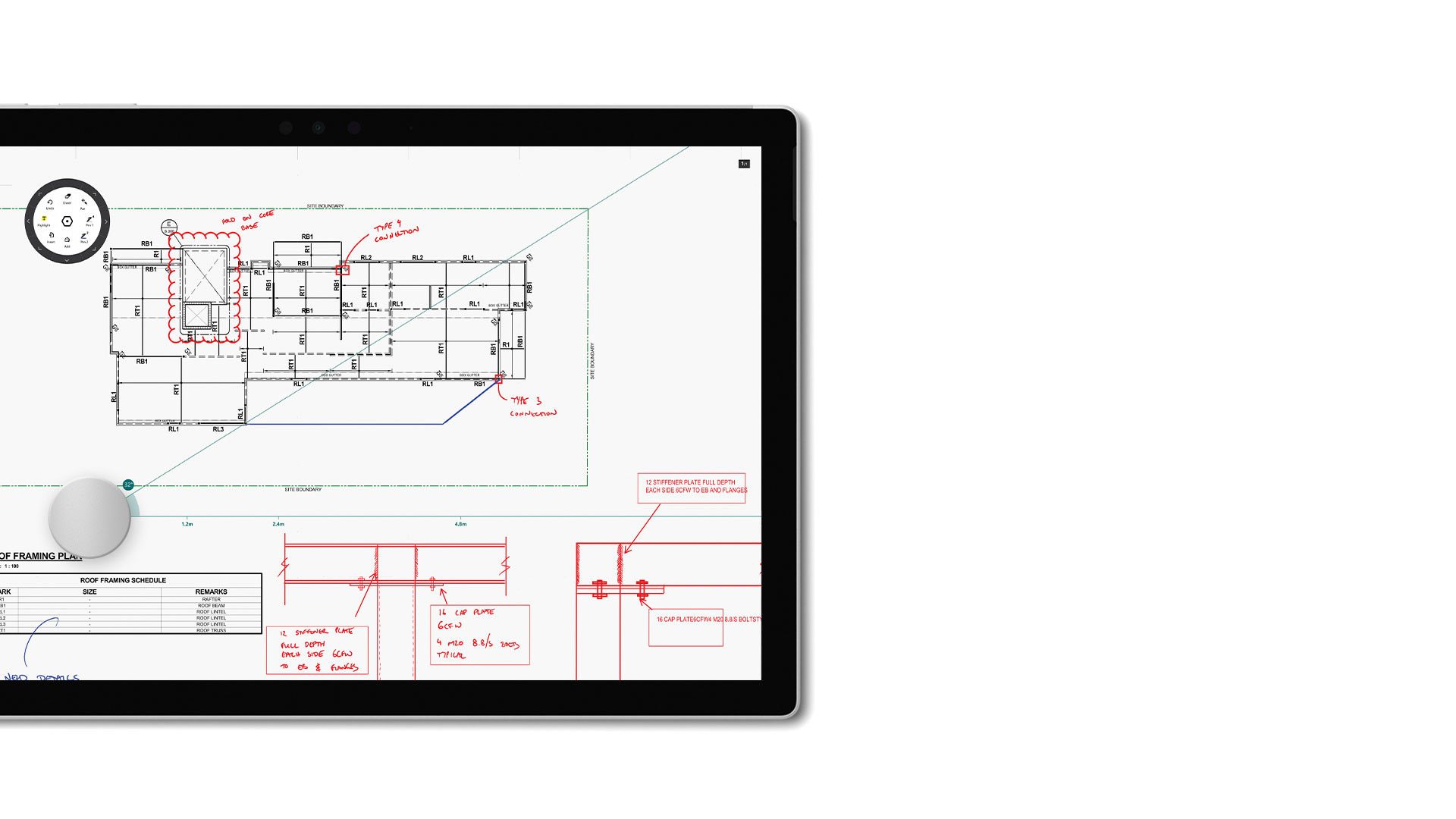 Drawboard PDF-Screenshot auf Surface.