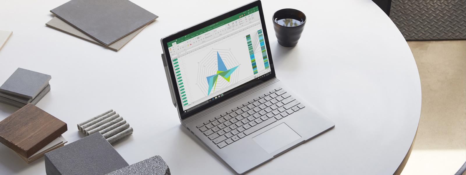 Excel auf einem Surface Book 2