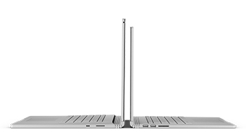 Beide Surface Book 2-Größen in Profilansicht.