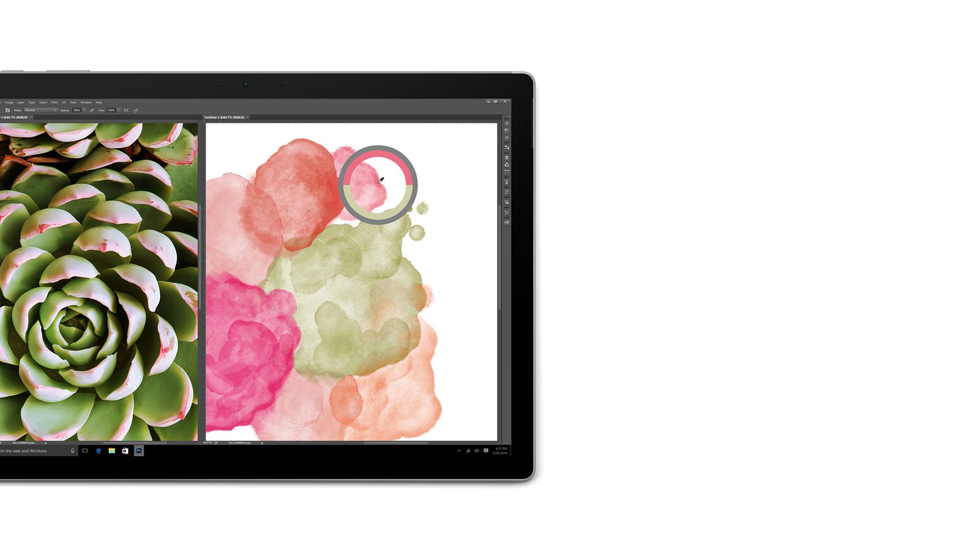 Surface Book-Display mit geöffnetem Adobe Photoshop