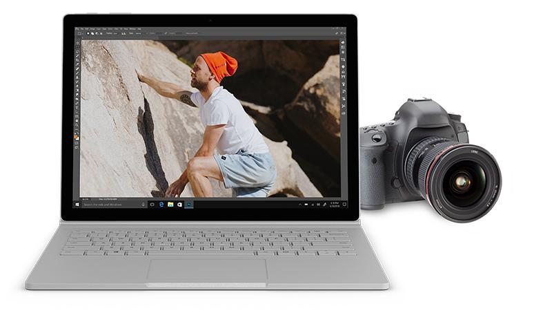 Die Gründer James Shaw und Chris Baker nutzen die Leistung und Vielseitigkeit von Surface Book, um an jedem Ort Fotos und Beiträge für weMove zu erstellen und zu veröffentlichen.