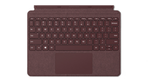 Surface Go Signature Type Cover in Bordeaux Rot