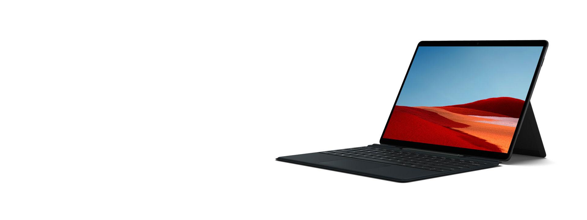 Surface Pro X in Mattschwarz mit 13-Zoll-PixelSense™-Display