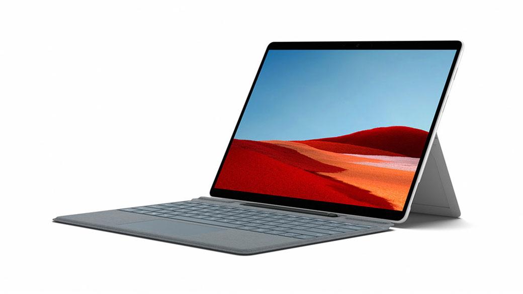 Surface Pro X in Platin mit 13-Zoll-PixelSense™-Display
