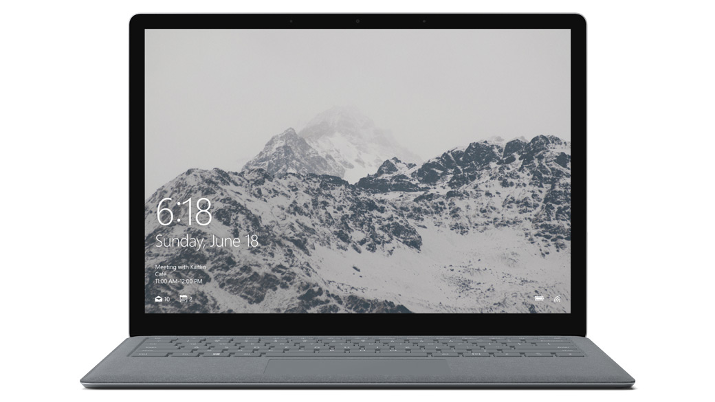 Surface Laptop – Platin Grau