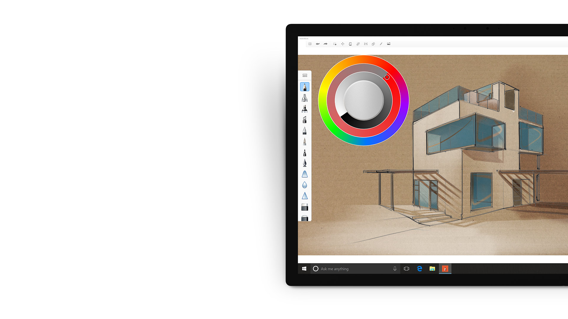 SketchBook-App auf einem Surface-Gerät.
