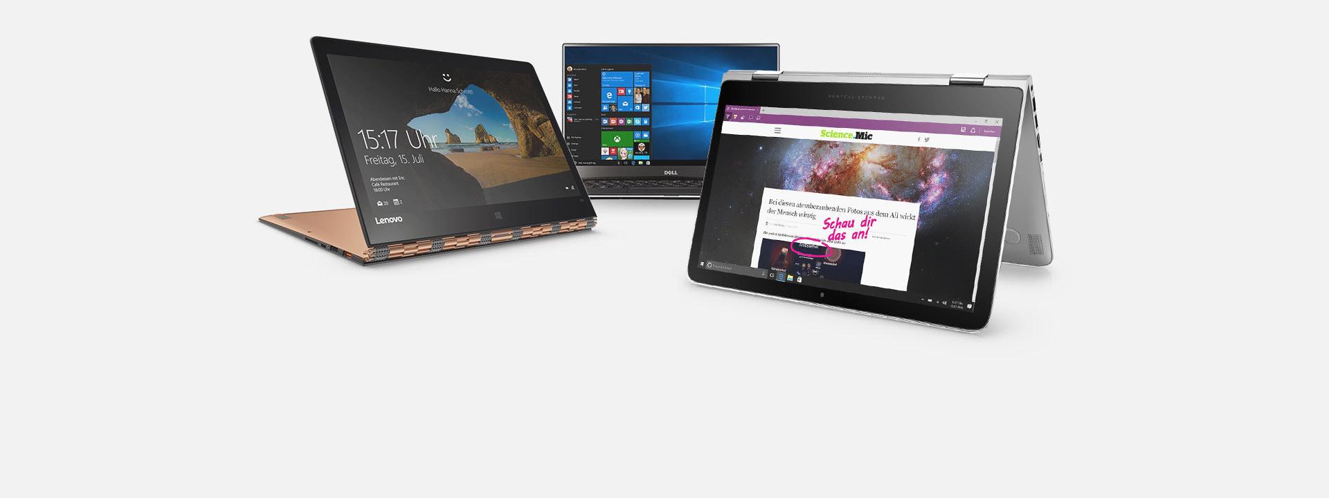 PCs, weitere Informationen zu unseren empfohlenen PCs