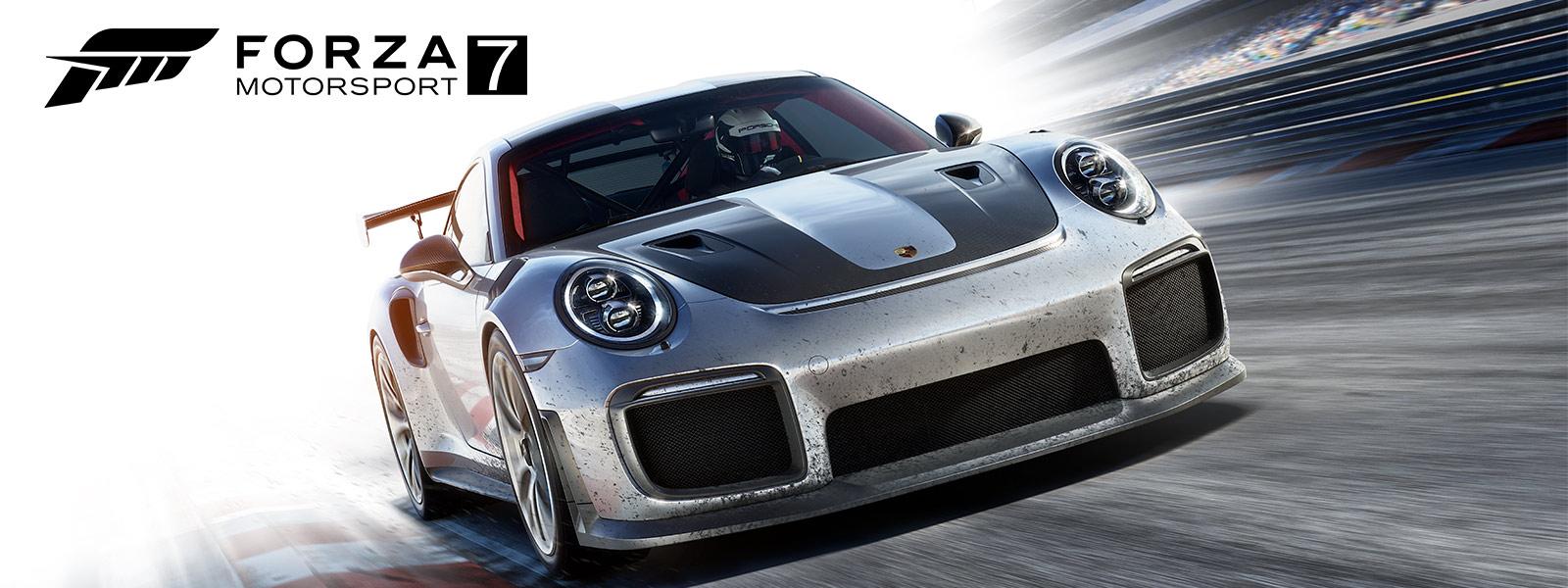 Bildschirm mit Forza Motorsport 7