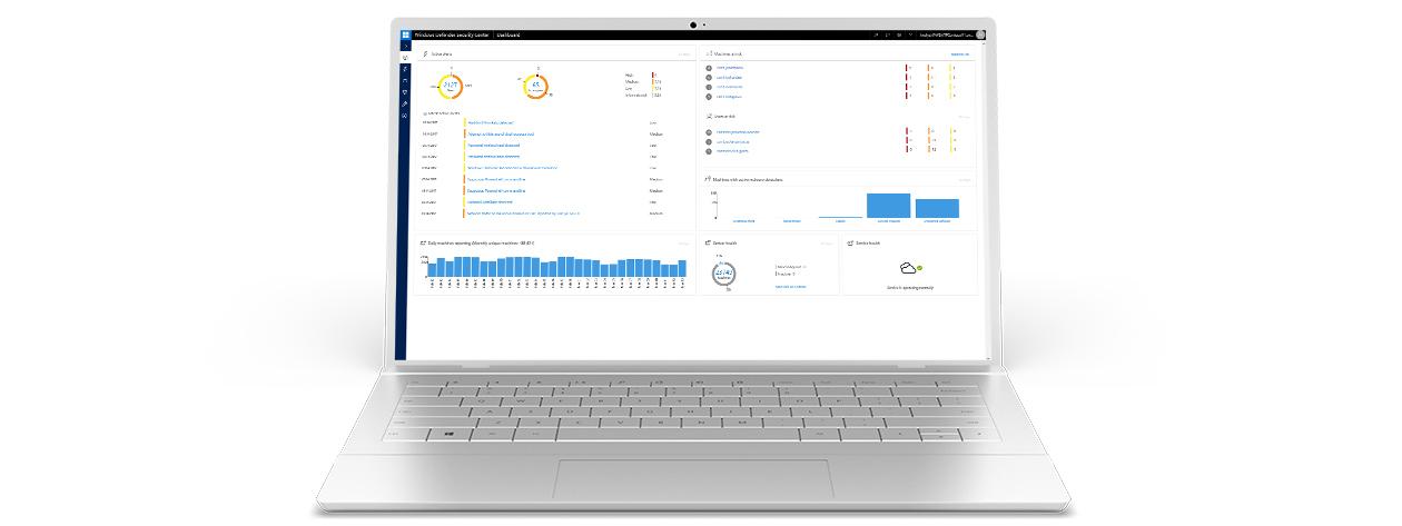 Windows Defender ATP-App-Screenshot auf nicht näher bestimmbarem Gerät