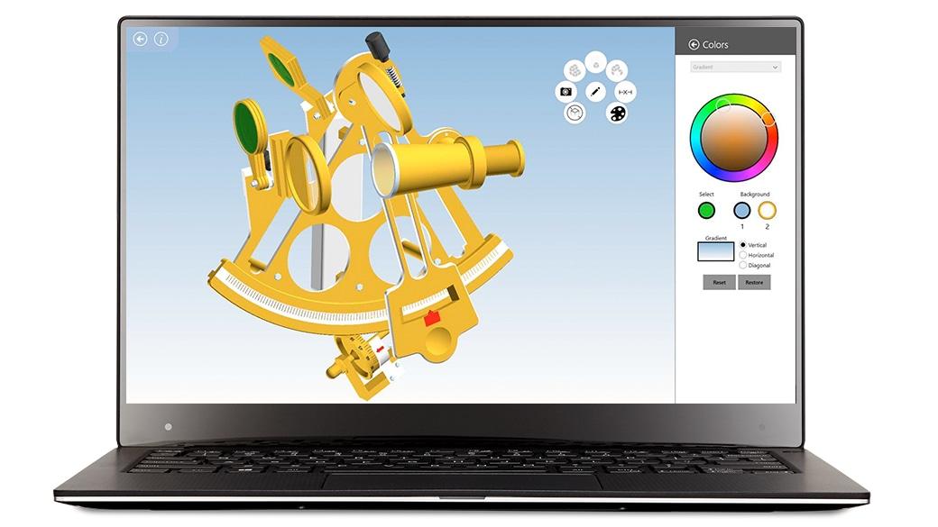 Siemens 3D Modell wird auf einem Laptop angezeigt