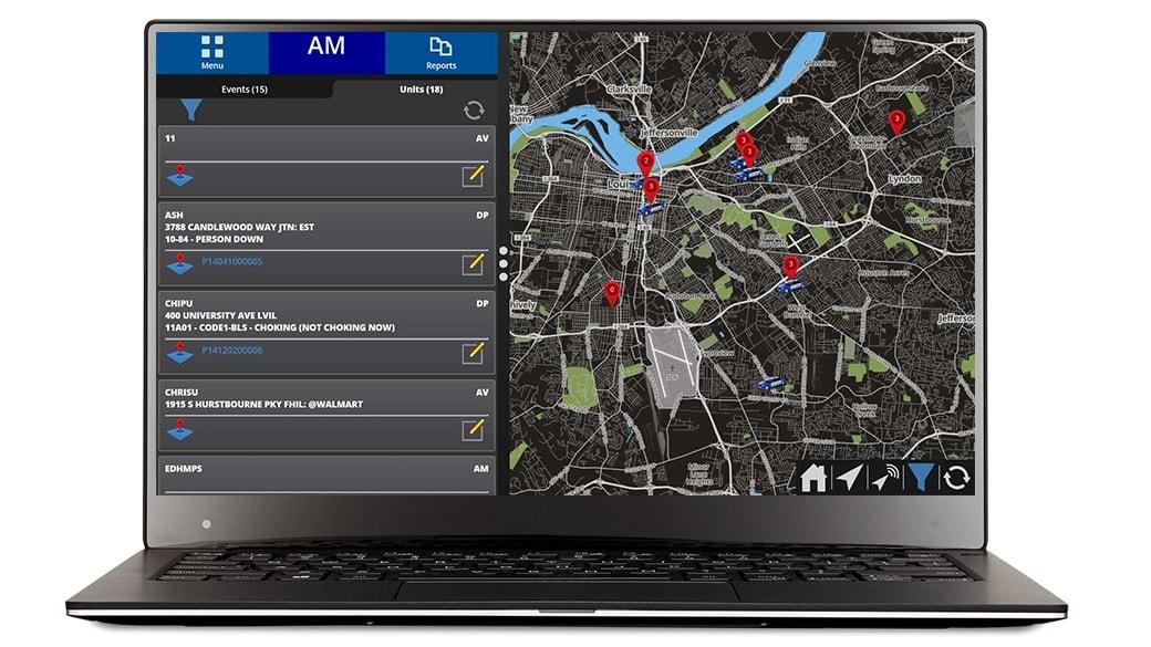 Laptop mit App-Anzeige auf dem Bildschirm
