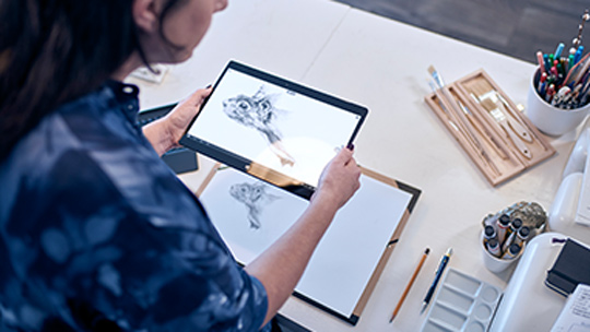 Windows Ink auf einem Lenovo Yoga 900-Tablet