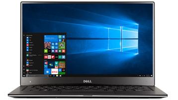 Laptop mit Windows-Startbildschirm