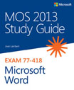 Cover of 'MOS 2013 Study Guide for Microsoft Word'
