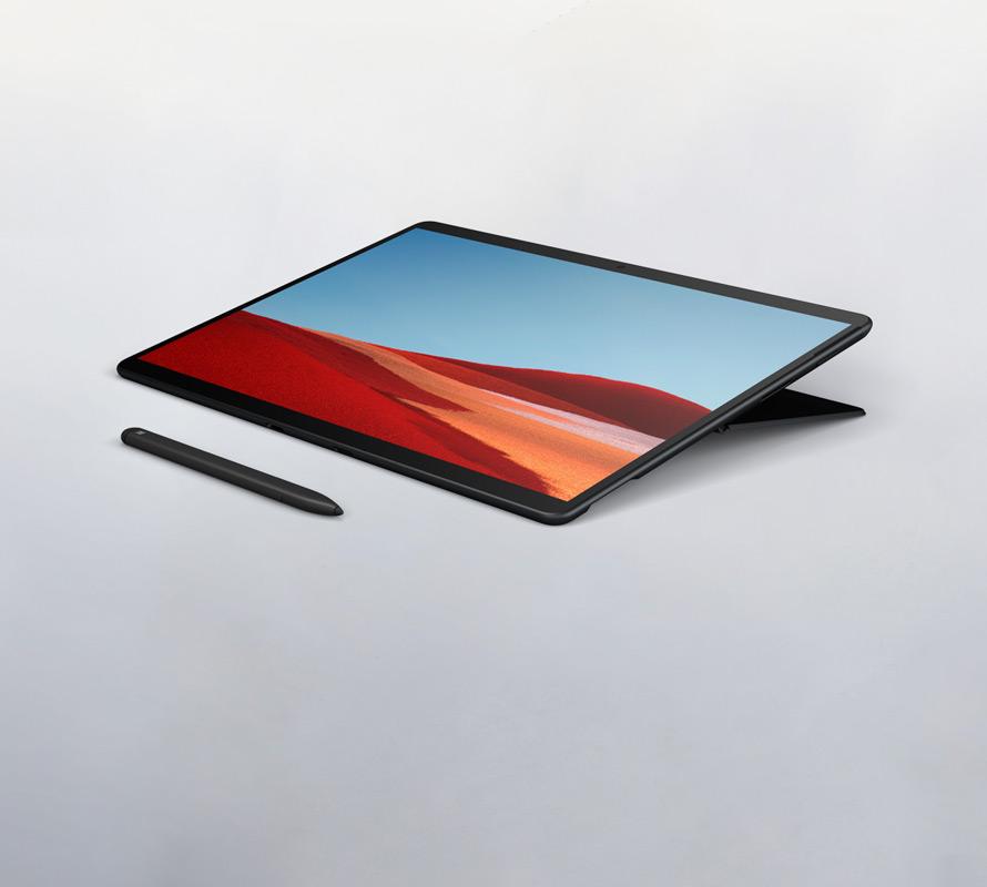 Surface Pro X im Studio-Modus