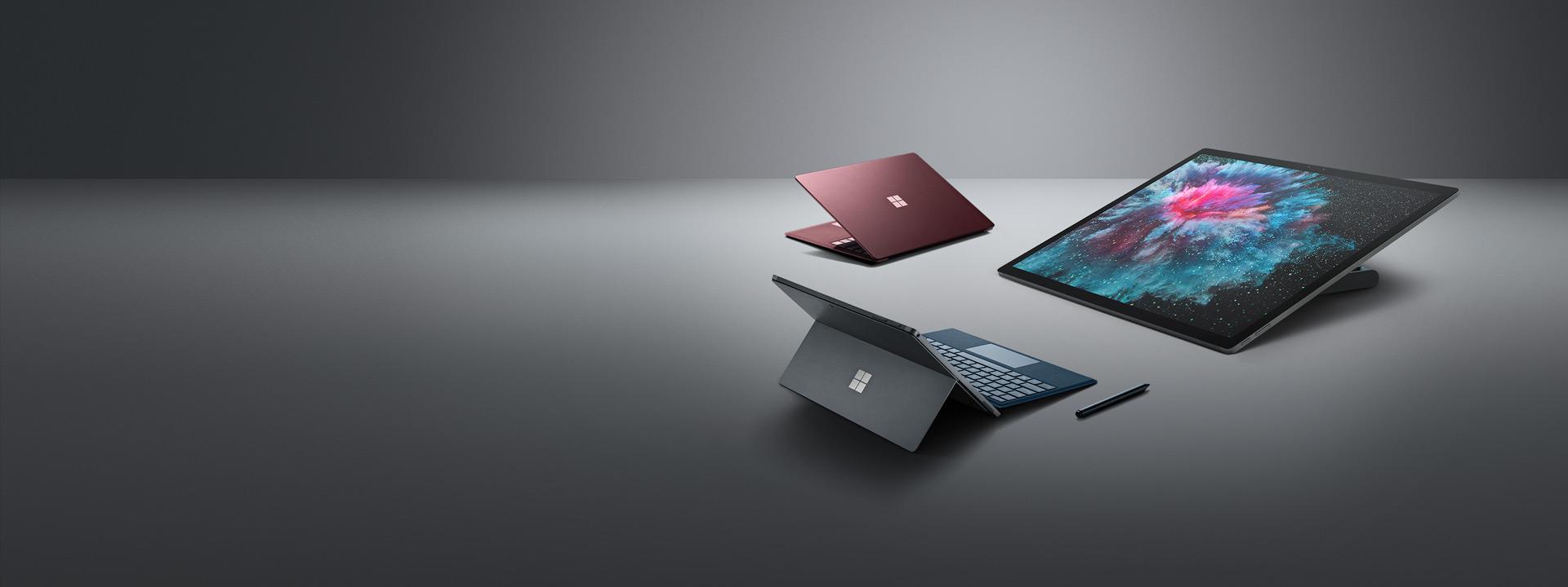 Surface Laptop 2, Surface Pro 6, Surface Go, Surface Studio 2