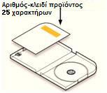 Εντοπισμός αριθμού-κλειδιού προϊόντος στη θήκη του DVD