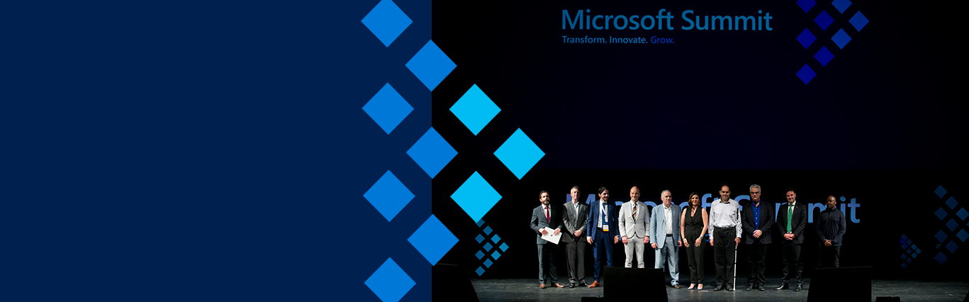Microsoft Summit 2019 all speakers on stage