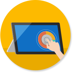 Surface Dial on computer screen