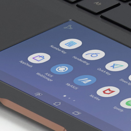 Computer touch screen with icons