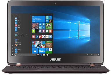 ASUS Q Series Q324 with Windows 10 start screen