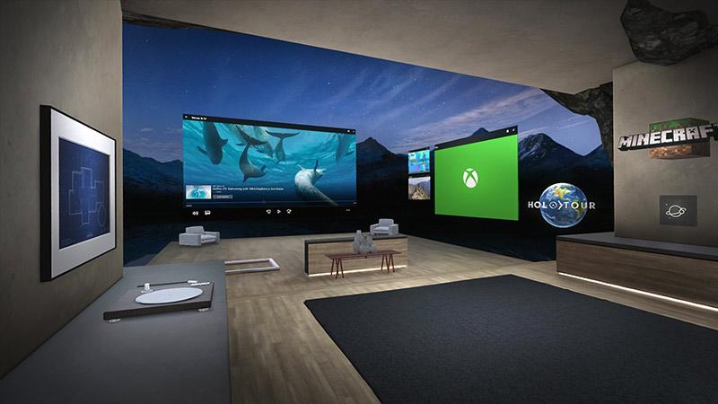 Windows Mixed Reality Cliff House start menu