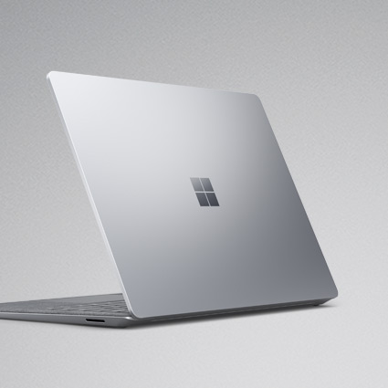 Surface Laptop 3 seen from the back