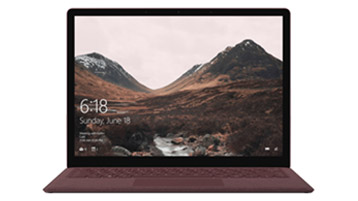 Front-facing view of Surface Laptop