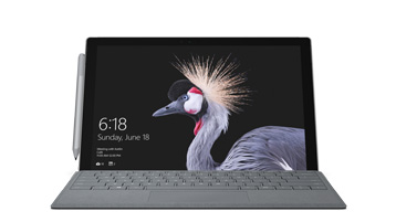 Front-facing view of Surface Pro