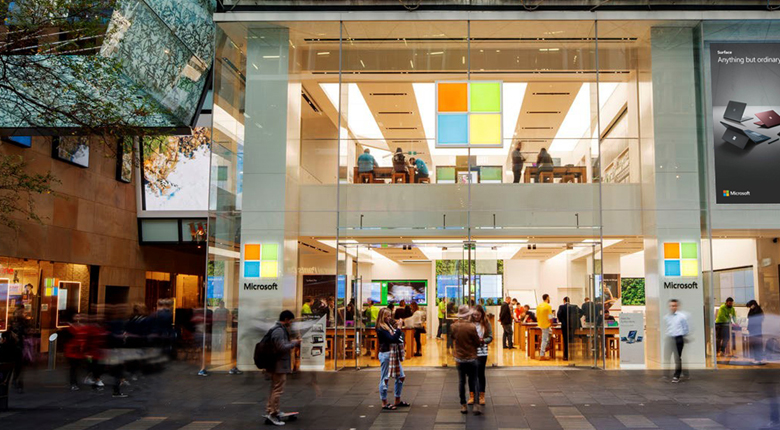 Microsoft storefront in Sydney.