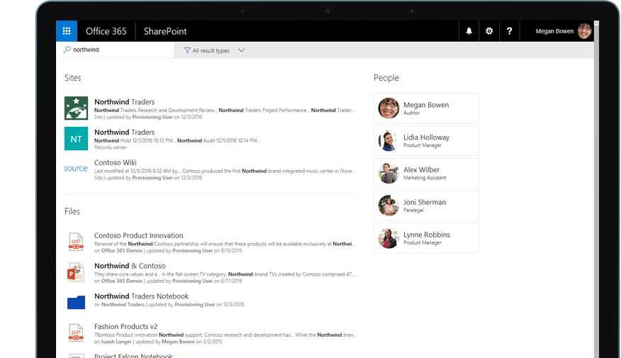 Yammer and SharePoint on a tablet PC