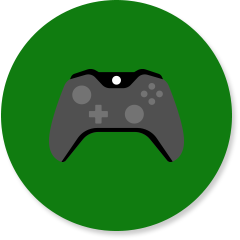 Gaming icon with controller