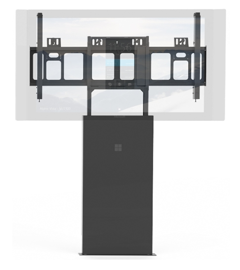 Floor support mount for Surface Hub.
