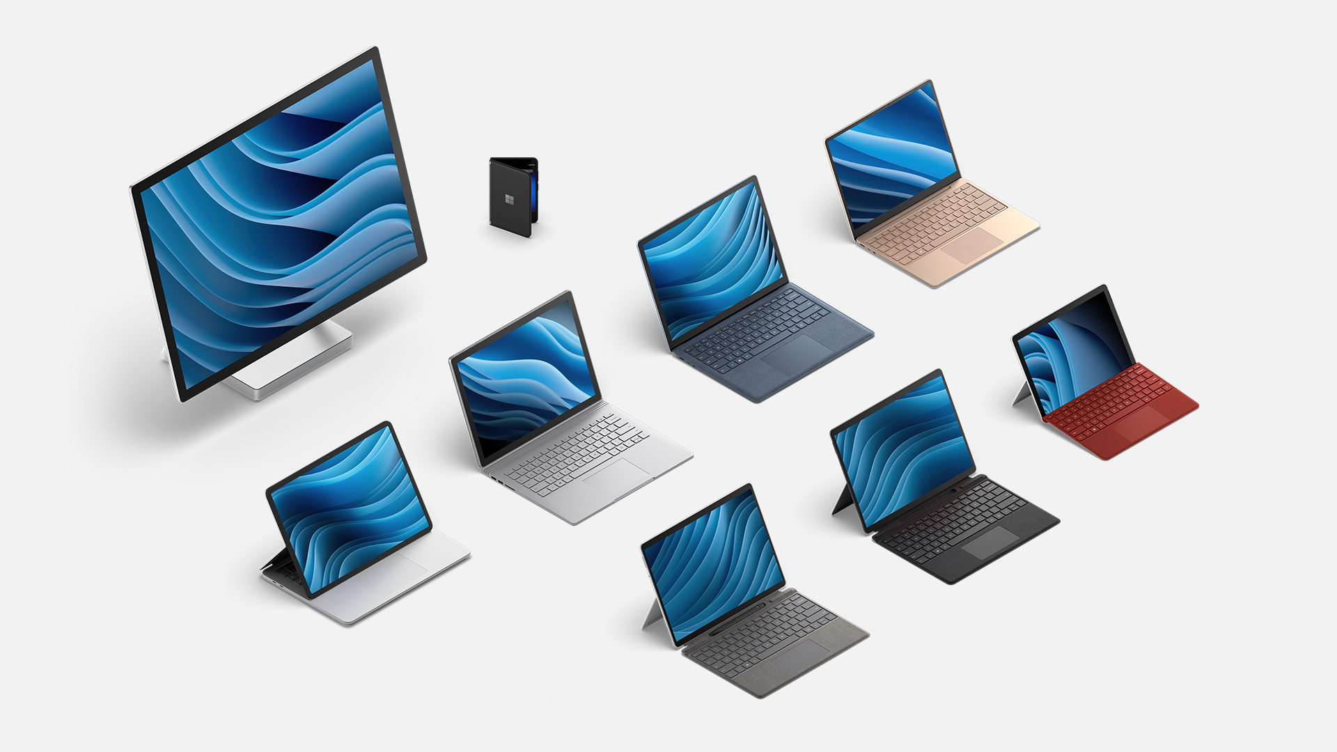 A collection of all Surface family devices.