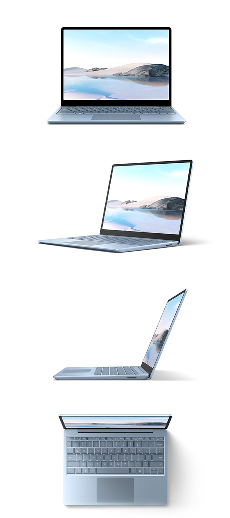 360 rotation of the Surface Laptop Go (Ice Blue)