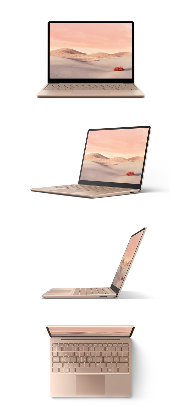 360 rotation of the Surface Laptop Go (Sandstone)