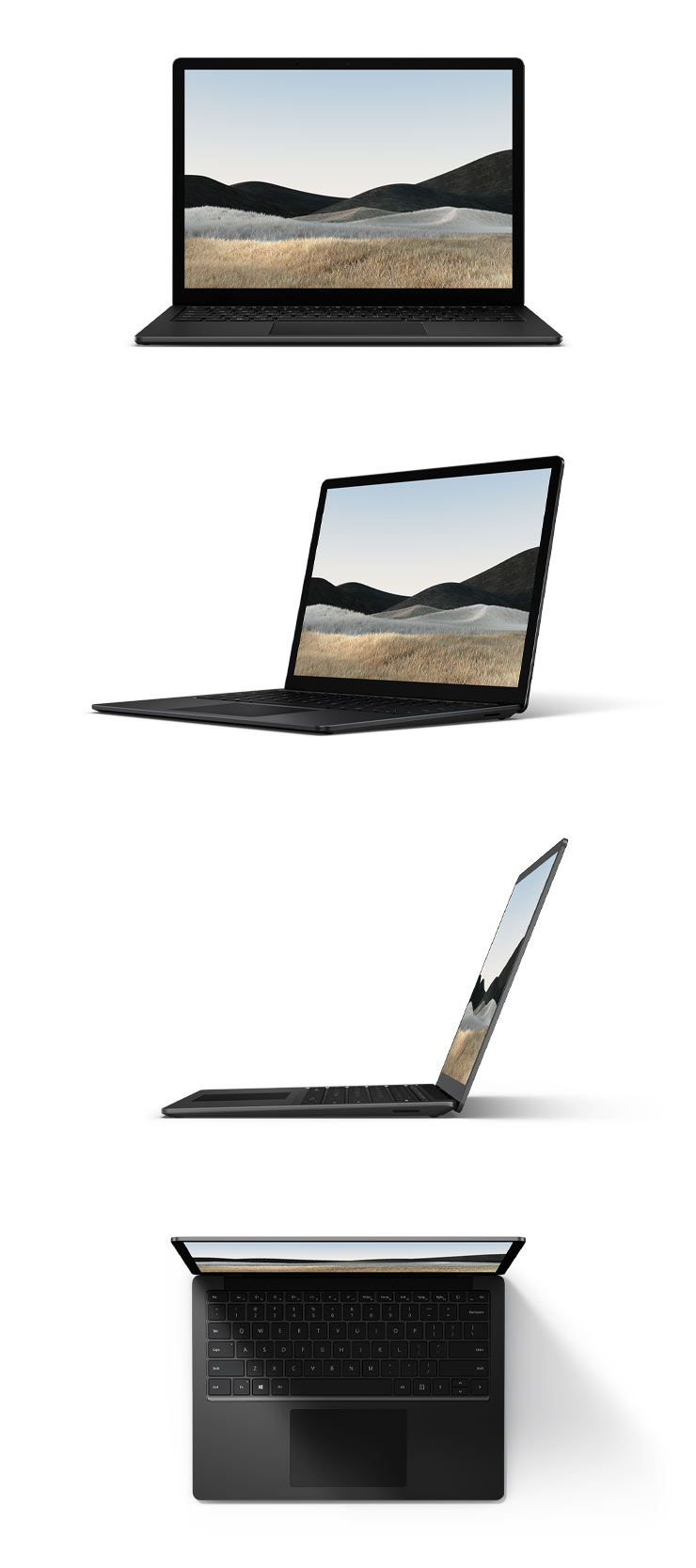 "360 rotation of the Surface Laptop 4 13.5"" (Matte Black)"