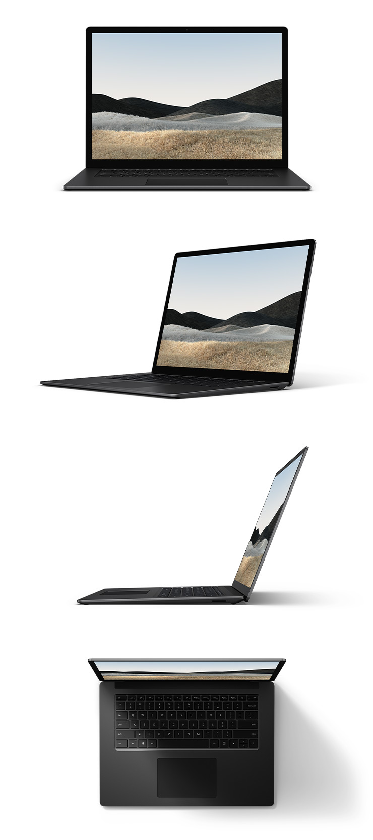 "360 rotation of the Surface Laptop 4 15"" (Matte Black)"
