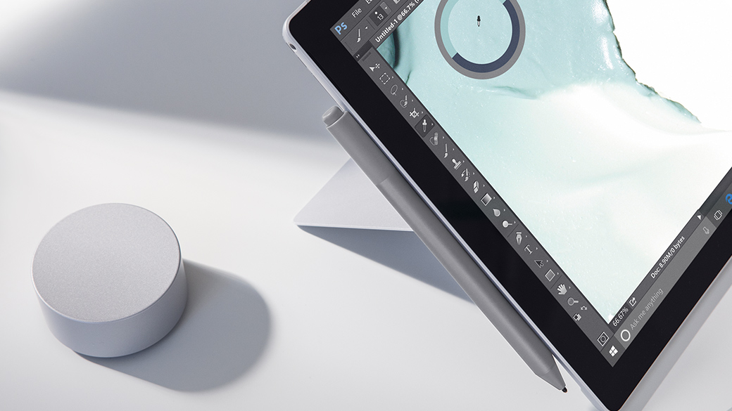Image of a Surface Pro with Dial