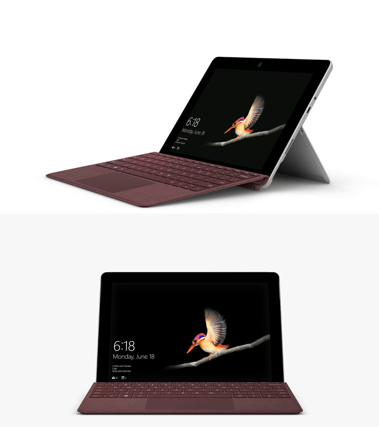 render of Surface Go with Surface Go Type Cover