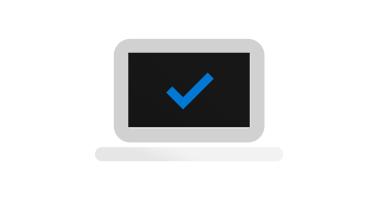 Computer icon with check mark