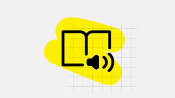 Reading narration icon