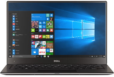 Dell XPS 13 (Touch) with Windows 10 start screen