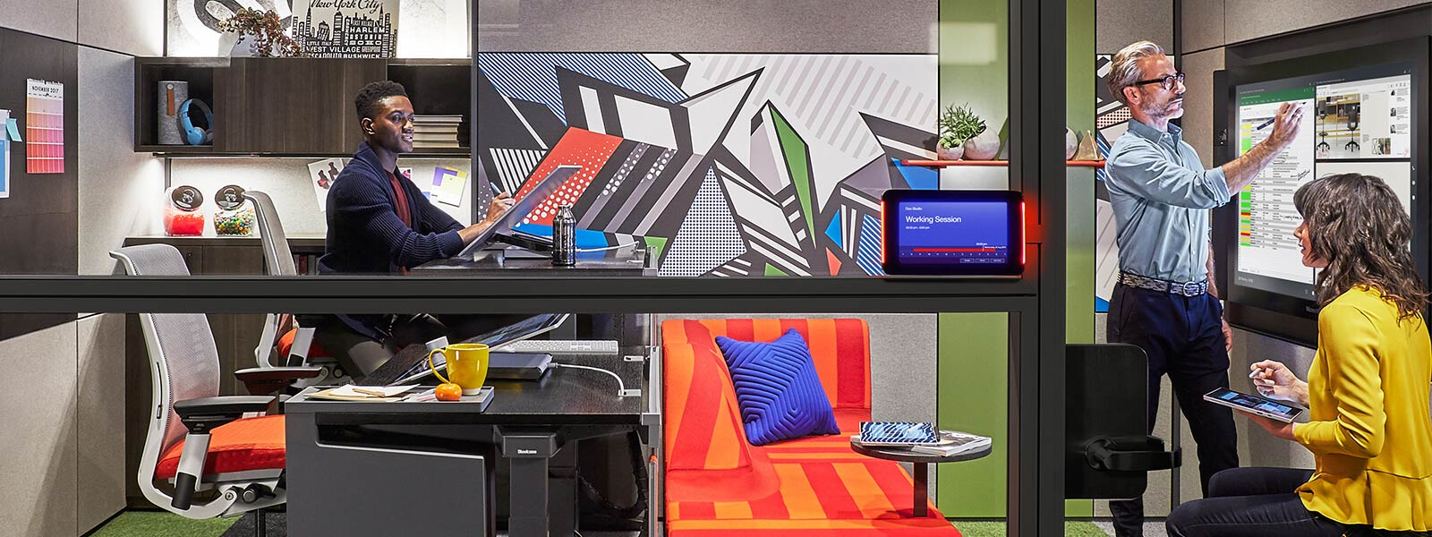 Duo Studio space designed by Surface and Steelcase.