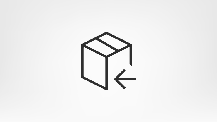 Icon of a box with an arrow.