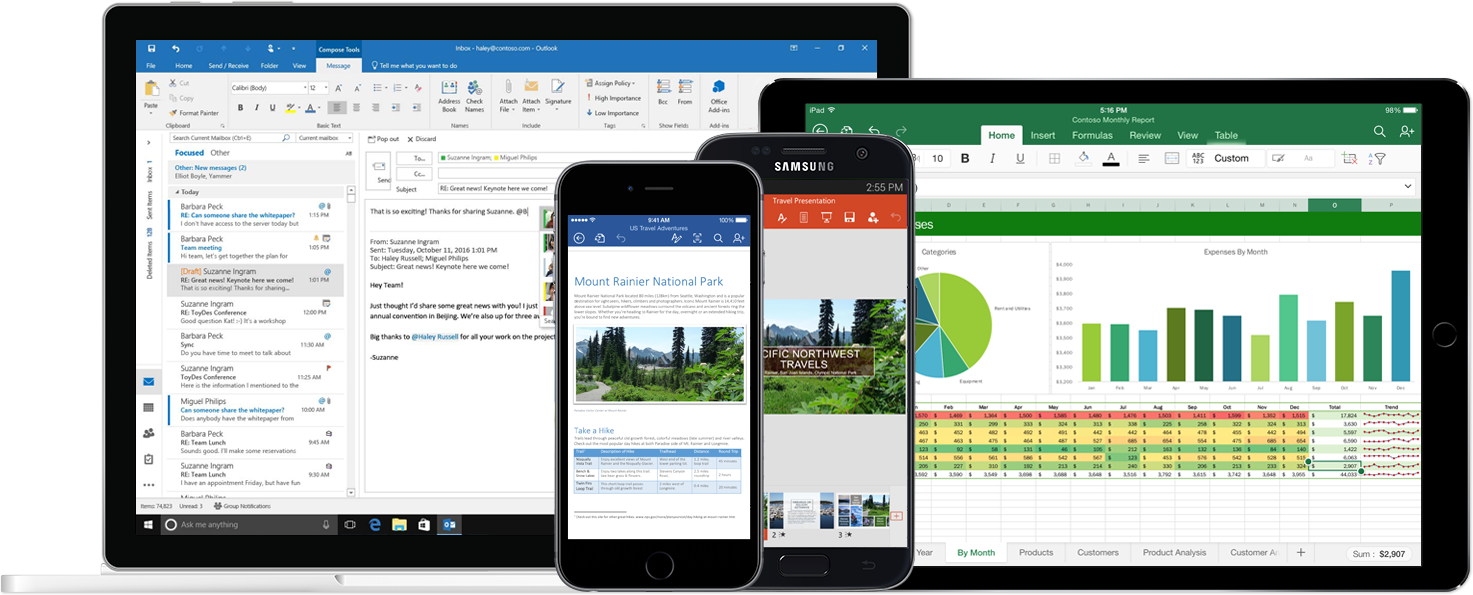 multiple devices with Office 365 apps