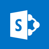 Microsoft SharePoint Mobile logo, get information about the SharePoint mobile app in page